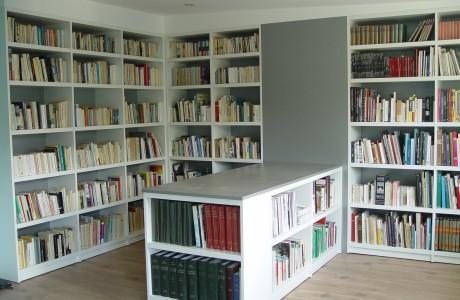 armoire bibliothèque blanc ouvert