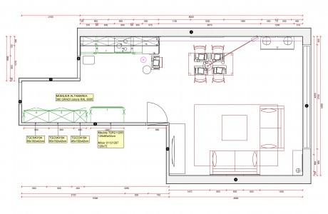 plan salon et salle à manger
