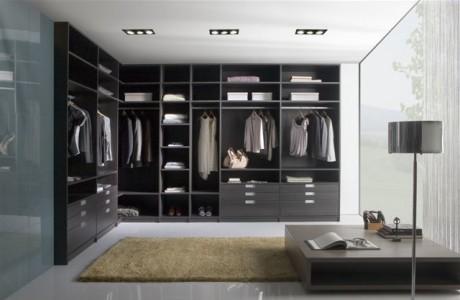 dressing en bois de couleur noir
