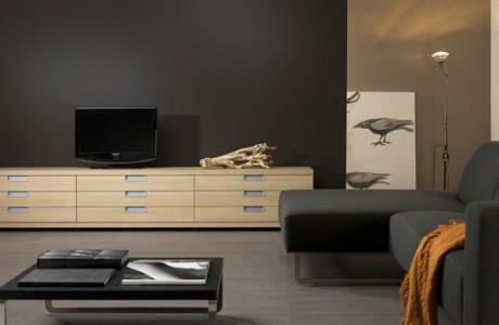 meuble TVA bas en bois clair